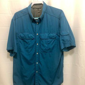REI Men's Vented Short Sleeve Shirt, Sz L,  PEM20